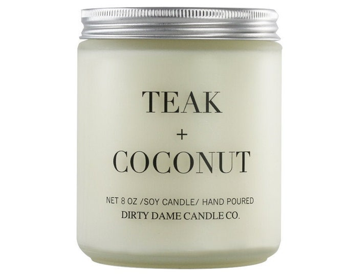 Teak + Coconut Candle