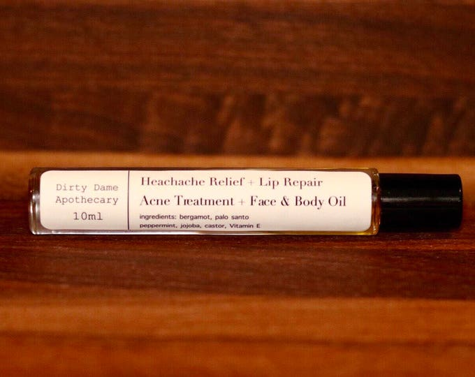 All in One Headache Relief + Acne Treatment + Lip Repair + Face and Body Oil For Daily Carry