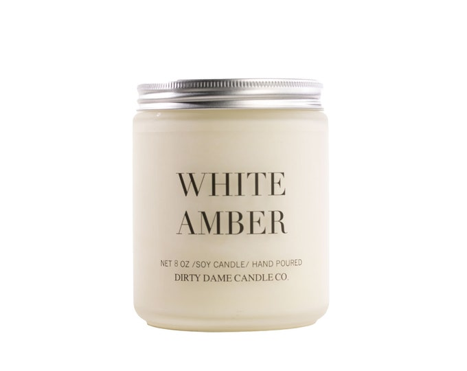 WHITE AMBER CANDLE