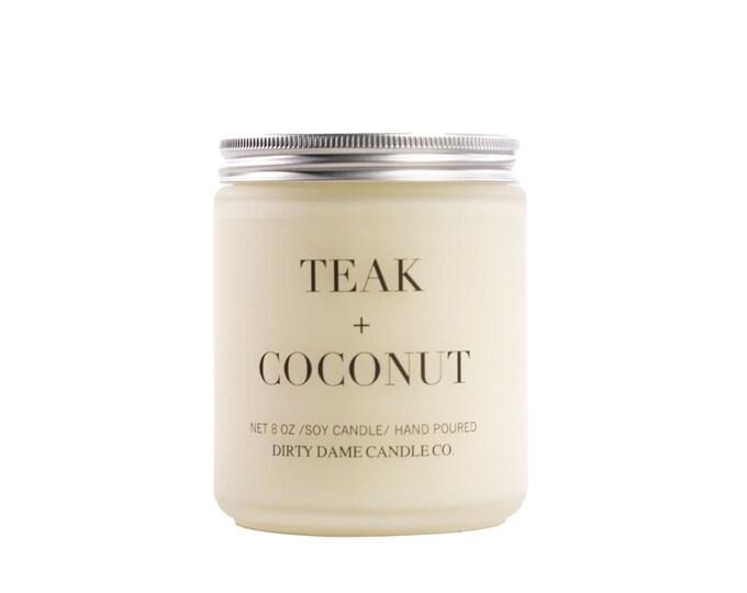 TEAK + COCONUT CANDLE