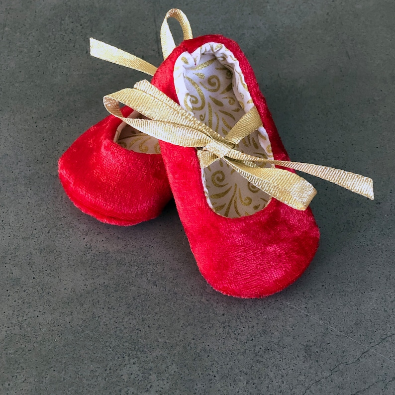 Velvet Baby Girl Shoes  Baby Booties  Baby's 1st image 0