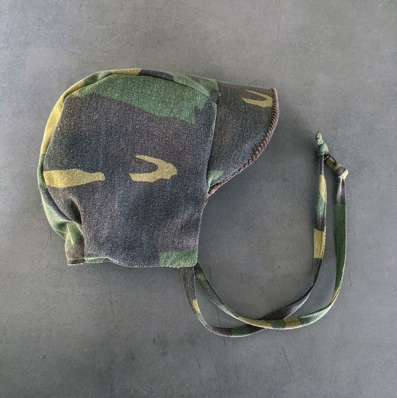Camo and Corduroy Boys Hat  Winter Baby Bonnet  Cold Weather image 0