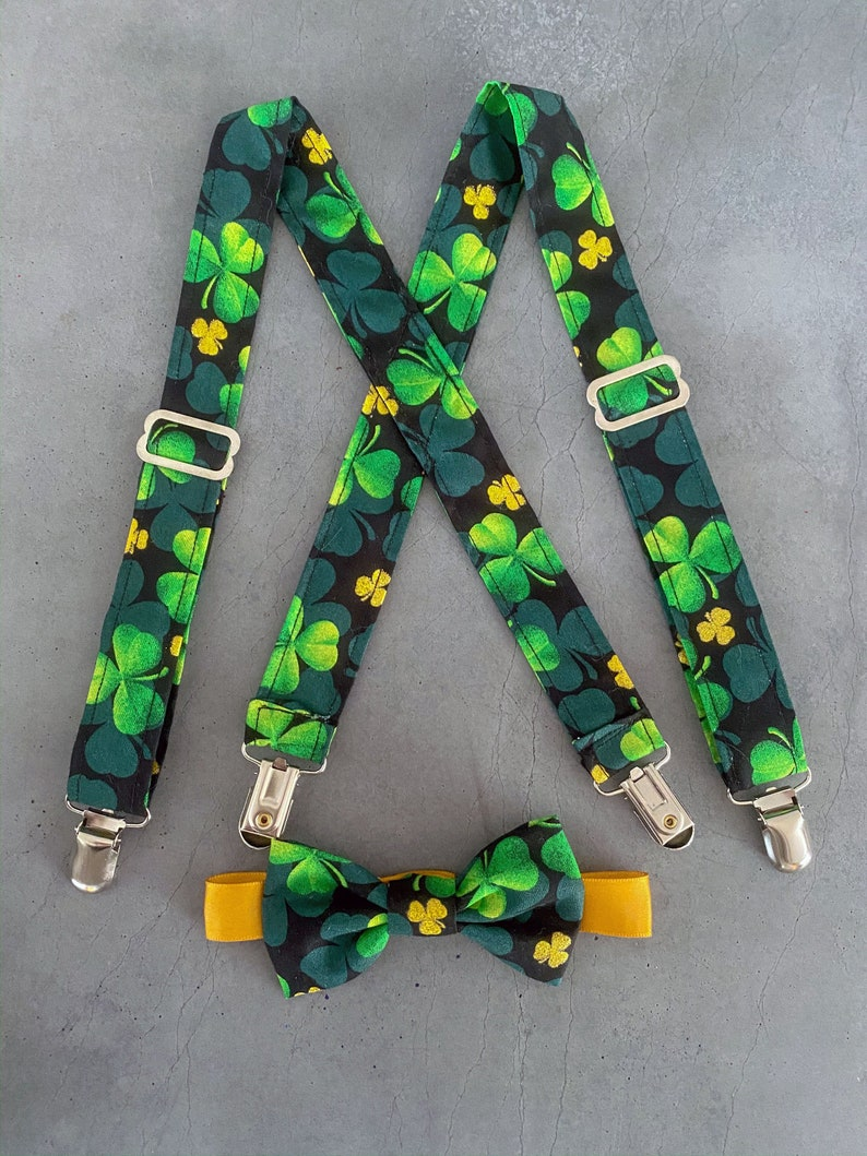 Toddler READY TO SHIP  Green and Gold on Black St Patrick image 0