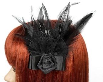 Gothic Headpiece mit Federn