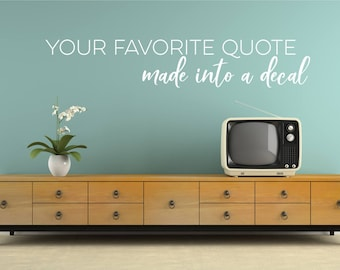Custom Wall Decal Quote - Create Your Own Wall Words Home Decor 832113616c34