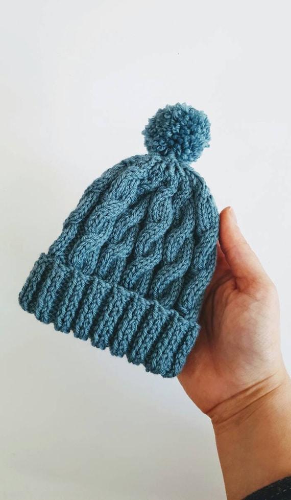 Baby hat bobble hat winter hat pom pom hat baby beanie  140c445b95f