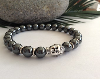 Buddha Bracelet Hematite Energy Bracelet Protection Bracelet Tibetan Healing Bracelet most  Beautiful Buddha bracelet design in our line