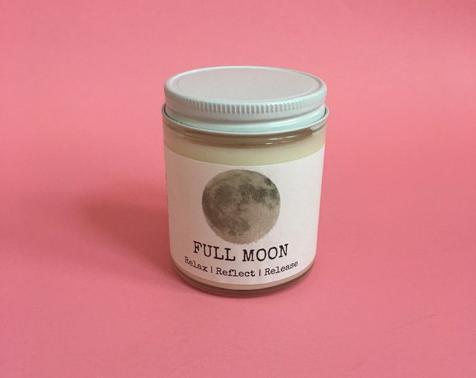 Full Moon Candle/ Soy Candle