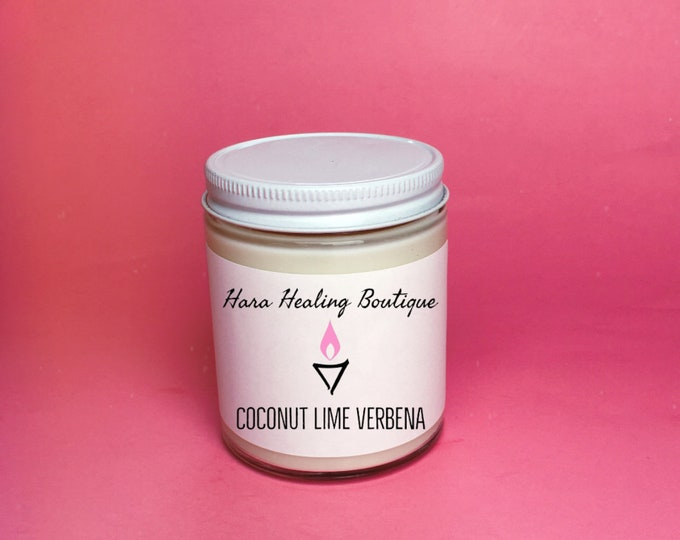 Coconut Lime Verbena Soy Candle / cruelty free soy candle