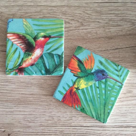 HUMMINGBIRD # 2  IMAGE  HOME DECOR COASTERS SETS U PICK SET SIZE