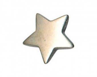12 mm metal star button.