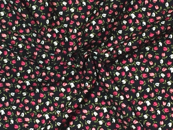 PRETTY ROSE /& HUBBLE CERISE FLAMINGO PRINT FABRIC 100/% COTTON HALF METRES