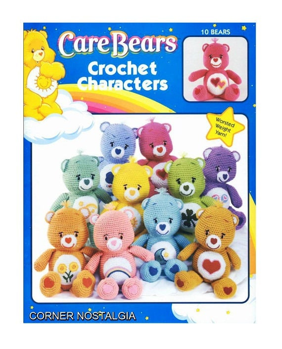 "14/"" DOLLS to CROCHET pattern instruction book CARE BEARS CHARACTERS"