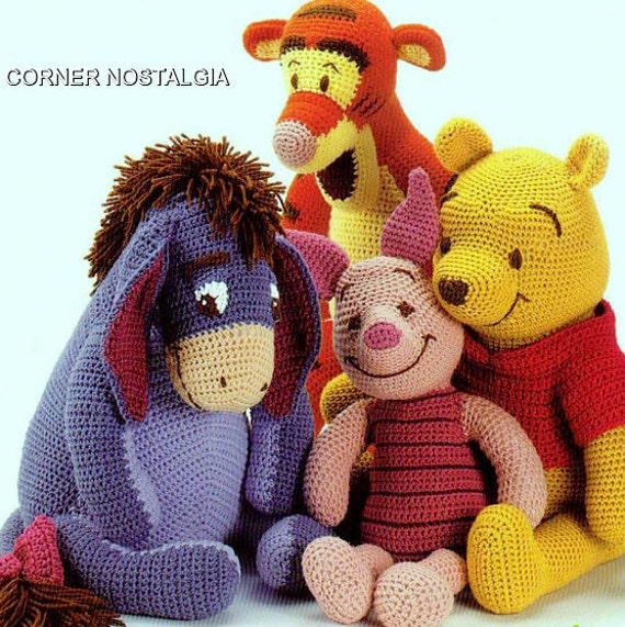 Vintage Crochet Pdf Pattern Winnie The Pooh Tigger Piglet And Etsy