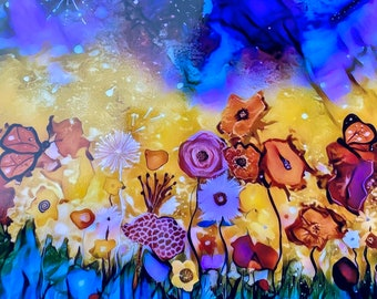 "Garden of Whimsy Print - 8x8"""