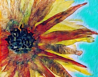 """Limited Edition Digital Print - 8x8"""" Flower Painting"""