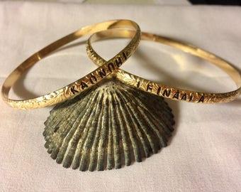 4mm Hawaiian Heirloom bangle, hawaiian bangle, tahitian pearl heirloom bangle