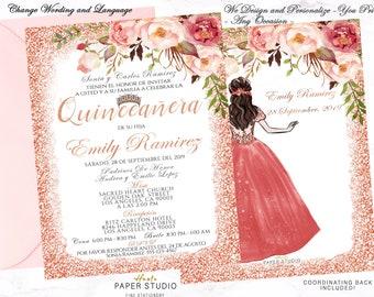 Quinceanera Invitation Spanish
