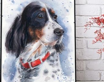 Hand portrait Custom Pet portrait Custom Pet Painting Custom dog portrait Watercolor Painting Original Painting Personalized Pet Portrait
