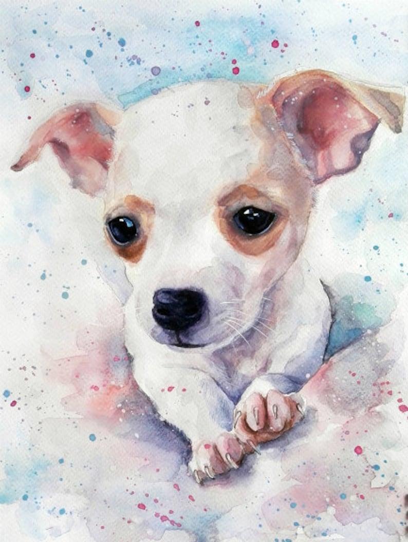 Custom Dog portrait Custom Dog Painting Custom Pet portrait image 0