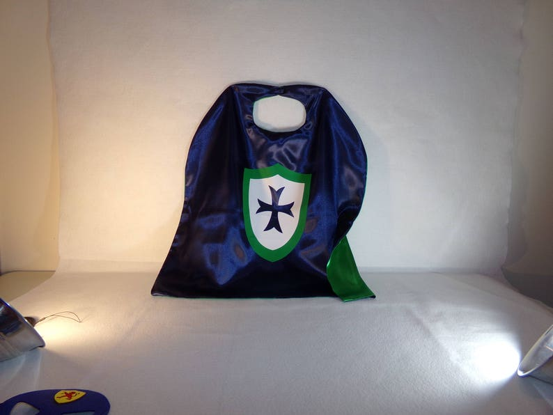 Knight cape and mask, personalized cape, cape and mask, children's capes,  party favors