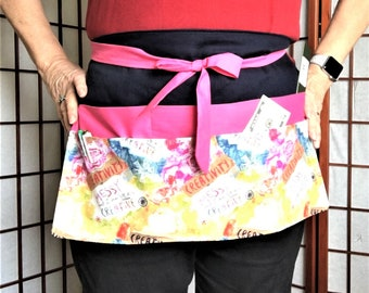 Large Creativity Crafters Apron, Canvas Duck Big Pockets Apron, Craft Show Money Supplies Apron, Housework Adult Aprons, Teachers Work Apron
