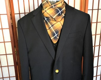 Warm Light Brown Navy Plaid Neck Wrap, Warm Gator, Handmade Flannel Neck Warmer, Fashion Flannel Fleece Plaid Neck Warmers, Neck Cowl
