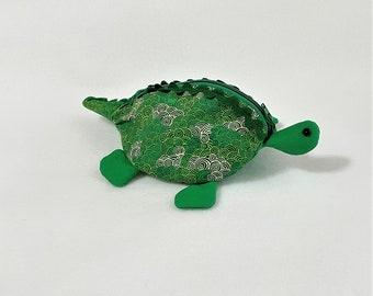 Cute Zippy Zoo Dinosaur Shaped Small Zipper Pouches, Stegosaurus Dinosaur Knitting/Crochet Project Accessory pouch, Child's Little Toys Bags