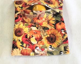 Easy Microwave Cooking, Autumn Birds Print Potato Bags, Large Potato Cooking Bag, Kitchen Linens, Corn Cobb Cooking, Warm Bread, Tortilla