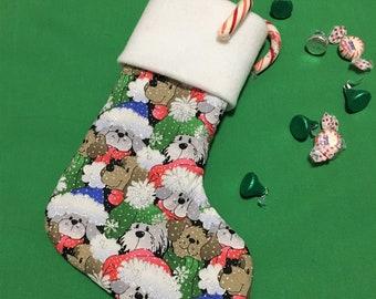 Puppy Christmas Stockings, Large Sweet Dogs Christmas Stocking, Fleece Cuff Xmas Stocking, Home Decor, Holiday Decoration, Child Stocking