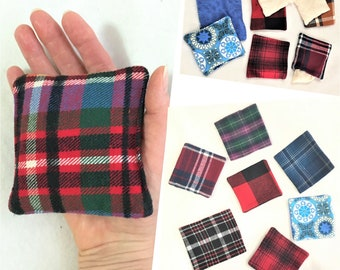 Removable Sleeve Flannel Handwarmers, Soft Rice Pack Warmers, Square Pocket Hand Warmers, Cold Relief Warm Rice Pack