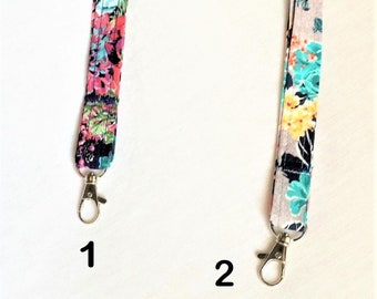 Fabric Lanyards, Swivel Lobster Clasp Fabric Badge Keys Lanyard, Medical Alert Device Cord, Paracord Neck Strap, Badge Holder Neck Cord