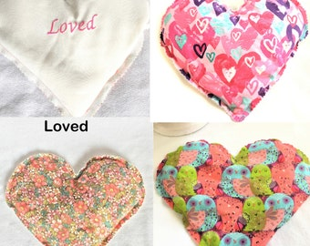 Embroidered Aromatic Warmers Rice Packs, Therapeutic Warming Heart Shaped Pack, Back, Knee, Neck Warmers, Lavender Scented, Pain Relief Pack
