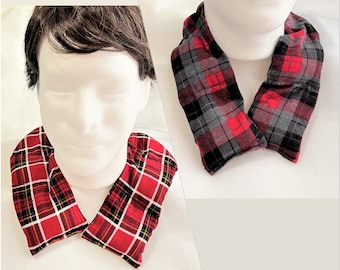 Straight and Curved Shape Flannel Aromatic Neck Warmers, Therapeutic Fabric Neck Warmer, Cotton Flannel, Scented Pain Relief Warm Rice Pack