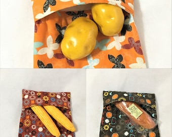 Medium Butterfly, Star Design Quilted Potato Cooking Bags, Microwaveable Potato Cooking, Corn Cobb Cook, Butterfly, Star Print Potato Bag