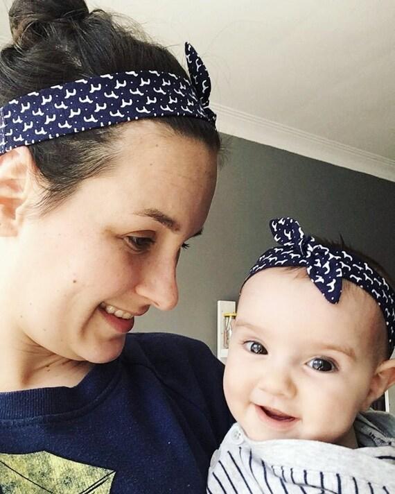 Duo mother-baby cotton headbands adjustable headband  fd5aca2e8a1