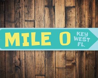 Real Mile Marker 0 Key West Road Sign Street sign Great for bar man cave etc