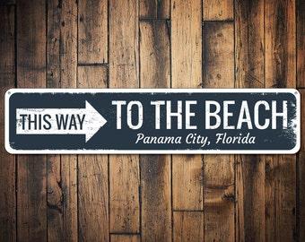 Beach Arrow Sign Etsy