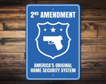 Pile of Brass Pro Gun Trump 2nd Amendment Embossed Tin Sign Home Bar Wall Decor