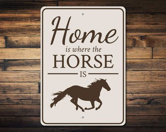 Horse Home Decor Lover Gift Owner Sign Stable Quality Metal ENS1003101