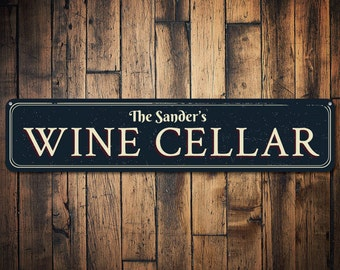 HAND PAINTED Wine Cellar Wood Sign Custom Colors  BAR WINERY HOME DECOR