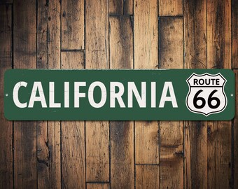 CALI Street Sign Personalized Last Name Sign