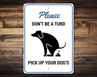 Dog poop sign   Etsy