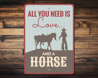 Horse Quote Sign, Cowgirl Gift, Cowgirl Sign, Horse Rider Gift, Horse Rider Sign, Horse Owner Sign, Horse Decor, Quality Metal ENS1003105