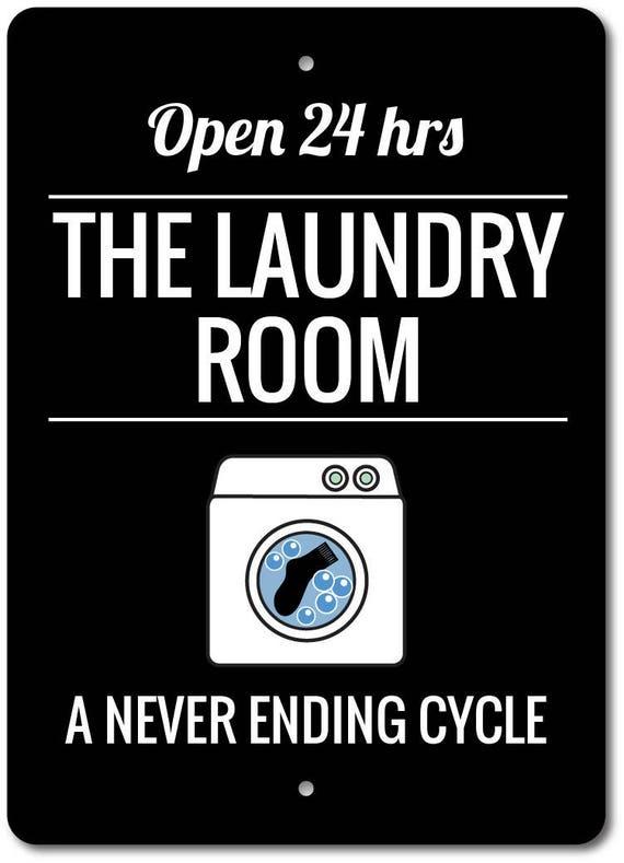Laundry Humor Funny Laundry Sign Laundry Phrase Decor Metal Sign ENSA1003211