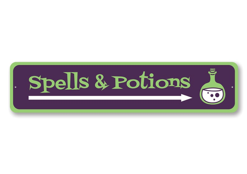 Spell /& Potions Halloween Signs Halloween Decor Halloween Witches Quality Aluminum Decoration Scary Halloween Sign Witch Spell Lover