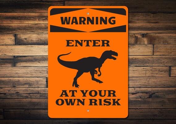 Jurrassic Park Dinosaur Kid\u2019s Room Sign Metal Dinosaur Name Room Sign Metal Name, Personalized Metal Sign Dino Room Gift Decor