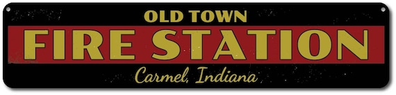 Distressed Wooden Sign ENS1001982 Fire Station Sign Fire Station Gift