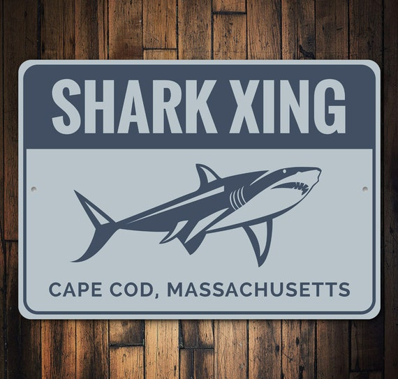 Shark Crossing Xing Sign New Made in the USA