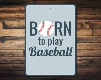 Baseball Sign, Baseball Decor, Baseball Player Gift, Metal Baseball Gift, Sports Fan Gift, Baseball Player Sign, Quality Metal ENS1003080